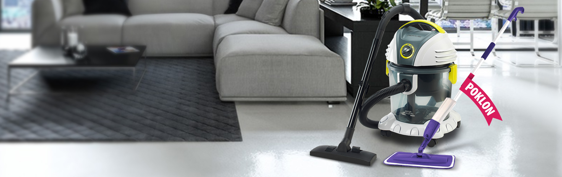 Victor usisivač + POKLON Spray Mop čistač podova